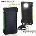 Bylynd original portátil solar 20000 mah banco de alimentación externa cargador de batería del teléfono cargador solar de copia de seguridad 20000 mah powerbank