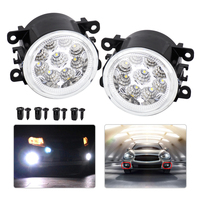 DWCX 2x Car 9 LED Front Left Right Fog Lamps DRL Daytime Running Driving Lights For