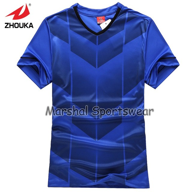 7cbe4caa020 2019 newest design in top quality football jersey kids size in stock item royal  blue Free Shipping Full Sublimation Team Jersey