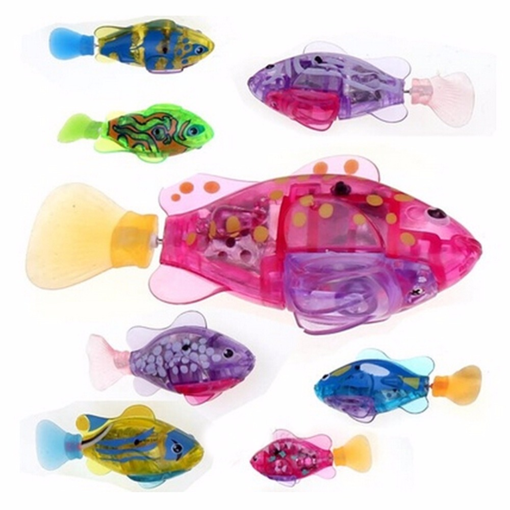 2019 Electronic Fish Activated Battery Powered Fish Toy Children Robotic Pet Holiday Gift Can Swims Electronic Pets Hobbies Toys