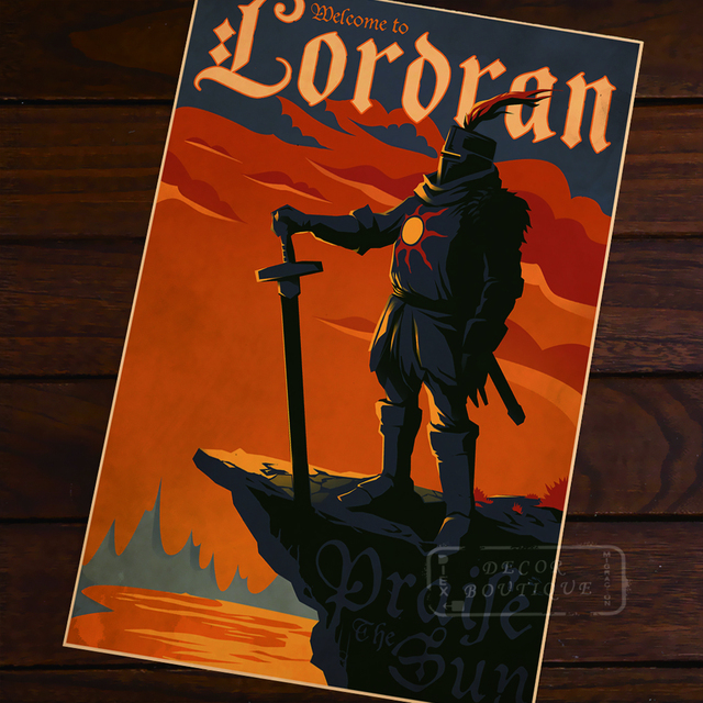 Sweet Dark Souls Posters Look Suitably Vintage Poster Decor Online