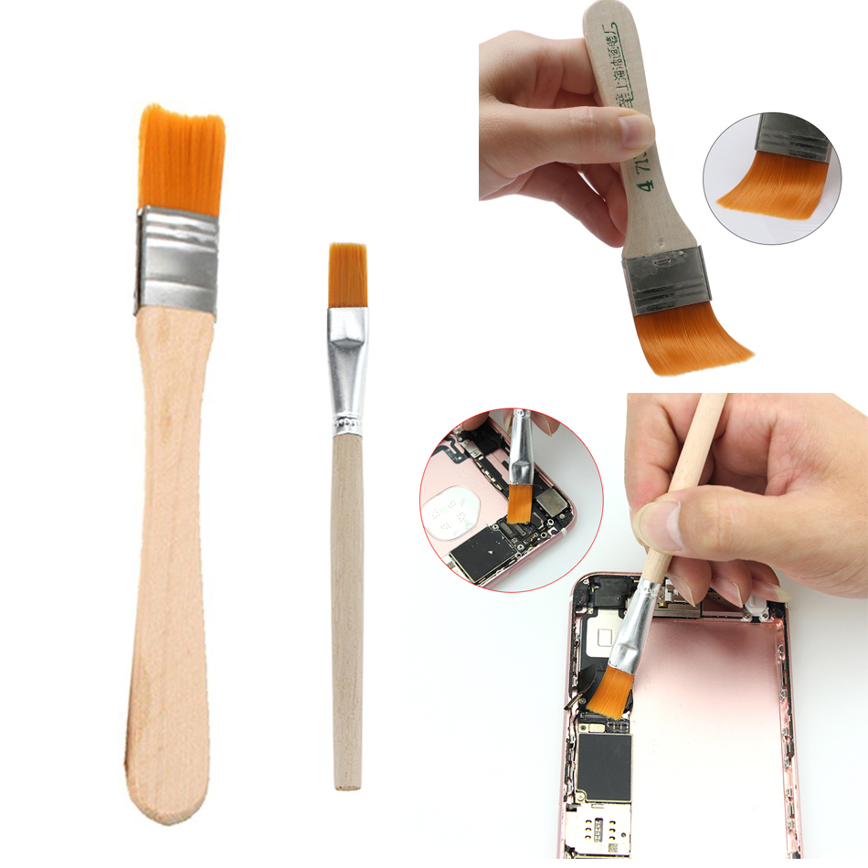 Soft Dust Cleaning Brush With Wooden Handle For IPhone Samsung Smartphone Tablet Laptop PC Repair Brushes Clean Tools