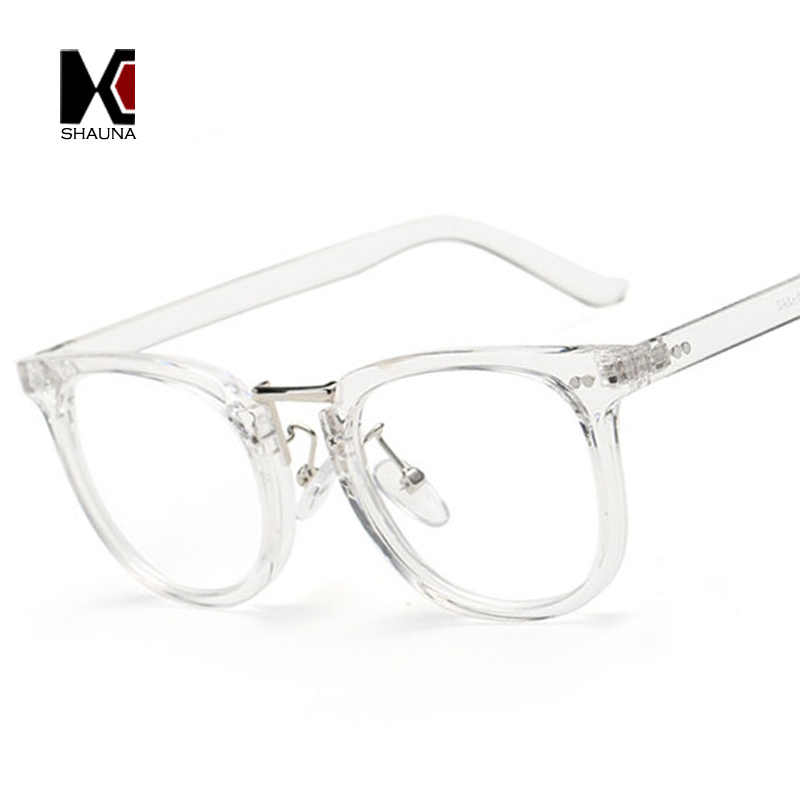 3454502c6d8 SHAUNA Fashion Women Square Eyewear Brand Designer Men Alloy Bridge Frame  Nail Decoration Clear Lens Glasses