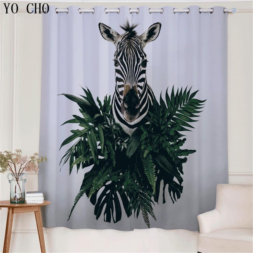 YO CHO Nuovo Prodotto 3d tende blackout Zebra Animale rideaux cervo ragazzi tende per bambini che vivono room135 * 245 cm 2 PZ gordijnen
