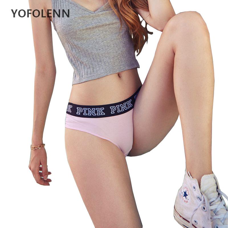 6 Patterns VS Secret Pink Letter   Panties   Women Leopard Patchwork Sexy Briefs Soft 100% Cotton Low-Rise Underwear Lounge Wear