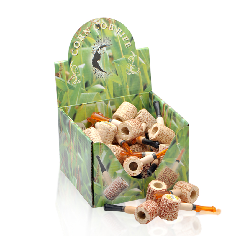 Free shipping 36pcs/lot(36pcs/box) mini Original corn cob tobacco pipe as healthy smoke  ...