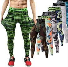 2017 Camouflage Men Compression Tights Sport Running Pants Dry Fit Skinny Leggings Gym Basketball Jogging Pants Fitness Jogger