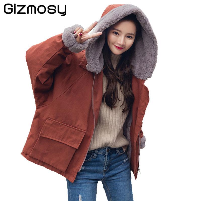 Fashion Winter Jacket Women 2017 Thick Warm Female Jacket Cotton Coat Parkas jaqueta feminina inverno Women Hooded Coat SY1779
