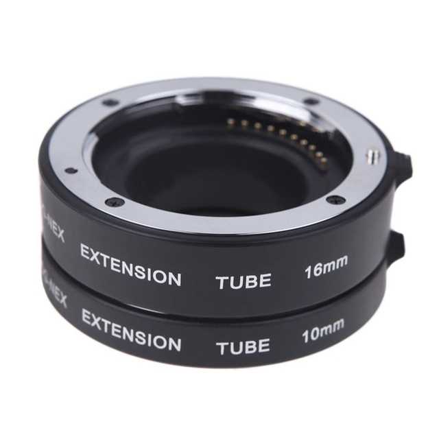 Enfoque automático macro extension tube set dg anillo de metal de montaje para sony e nex c-mout