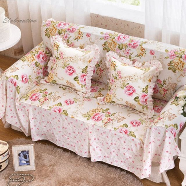 Floral Print furniture Sofa Cover Cushion Home Textile ...