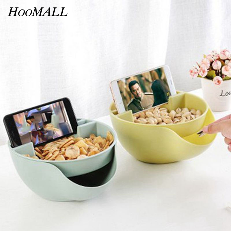 Hoomall Creative Double Layer Melon Seeds Storage Box Nut