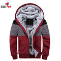 New Autumn Winter plus Velvet Warm Soft Shell Mens Jackets And Coats Patchwork Hoodies Casual Hooded Jacket Men brand Clothing