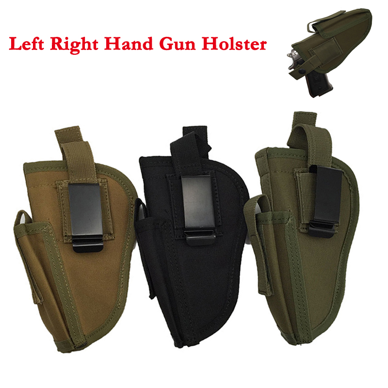 Gun Holster Concealed Carry Holsters Belt Holster Airsoft Gun Bag Hunting Left Right Hand For All Sizes Pistols