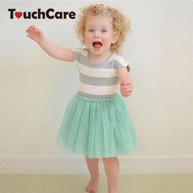 Short Sleeve Striped Dress Girl Clothes Summer Dress Tutu Princess Party Dress Solf Cotton Toddler Kids Girls Dresses Costume