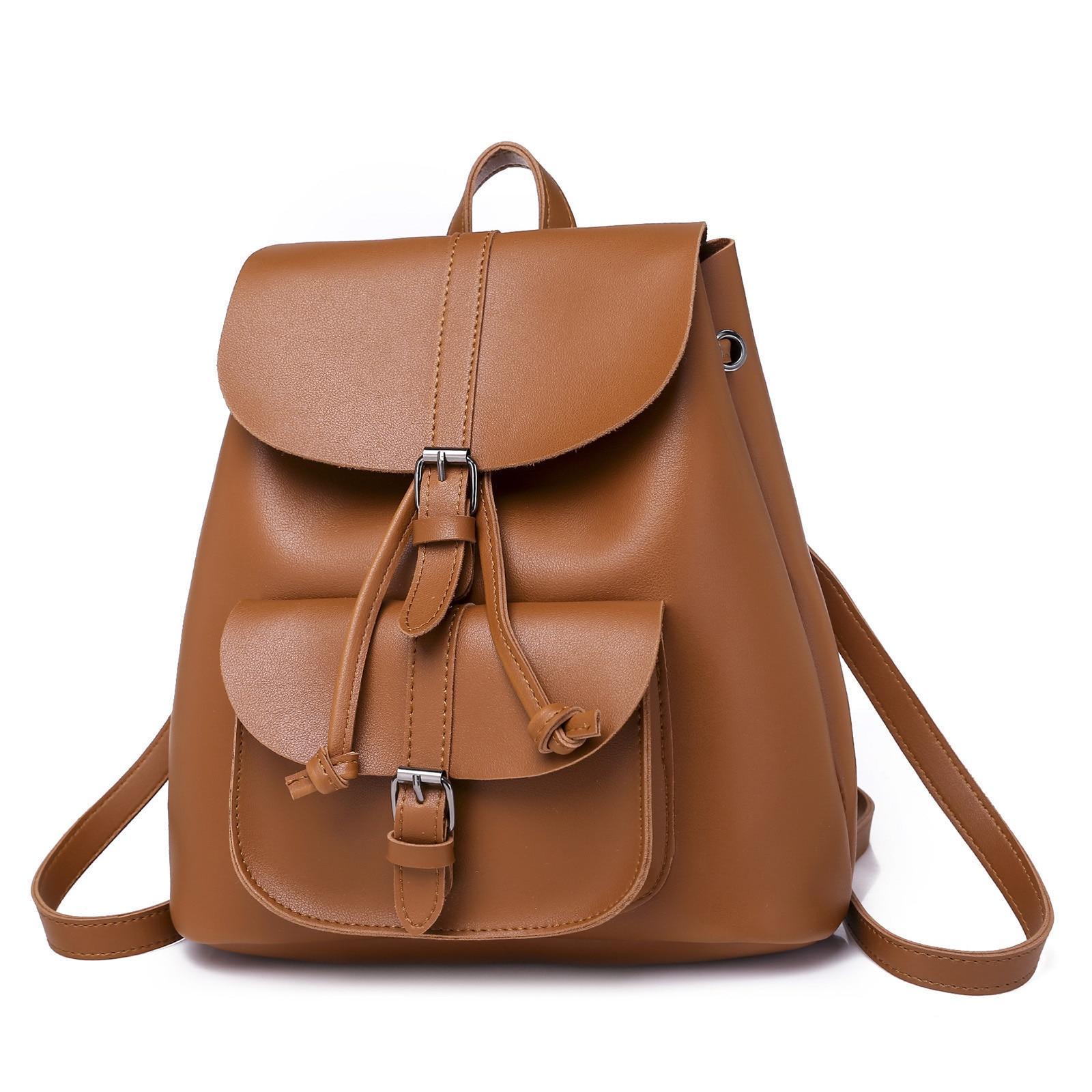 Backpack Women Pu Leather Female Backpacks Teenager School Mochila Feminina Rucksack Mochilas Mujer 2019