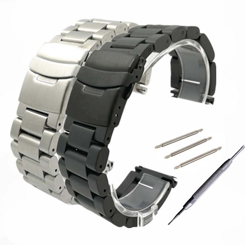 22mm 24mm 26 mm Solid stainless steel watchband stainless steel bracelet watches Strap Accessories + Tool