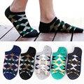 5 pairs moda argyle algodón hombres ricos calcetines lot summer dress negocios acogedor calcetines transpirable calcetines de color negro