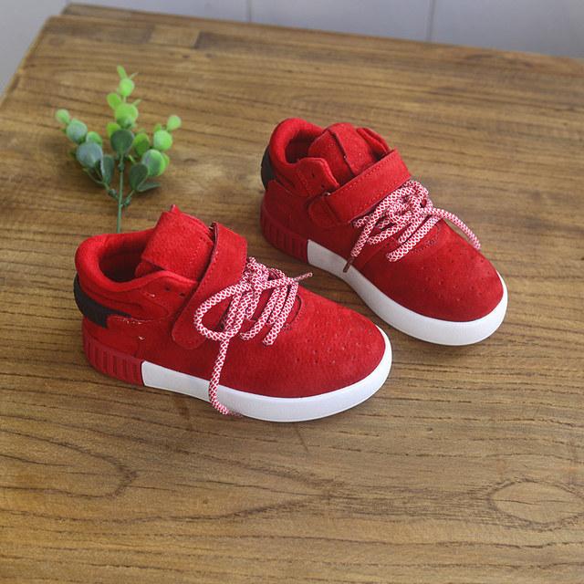 Moda niños del cuero genuino casual shoes niños con cordones deportes shoes boys flat shoes kids sneaker envío gratis