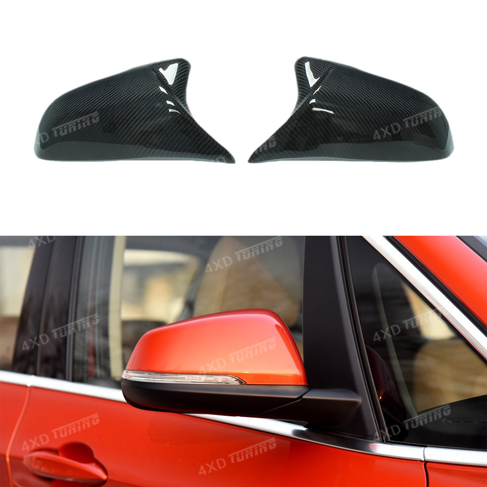For BMW 2 Series Touring F45 F46 GT 220i 228i M235i & 1 Series F52 X1 F48 F49 Carbon Fiber Mirror Cover 2014 2015 2016 2017 - UP 2pcs for bmw x1 f48 2016 17 abs matt chrome rear back net frame cover trim auto parts for bmw 2 series 218i f45 f46 car styling