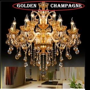 Image 5 - Kristallen kroonluchter Licht Luxe Moderne kristallen Lamp kroonluchter Verlichting champage Crystal Top K9 kroonluchter kristal licht