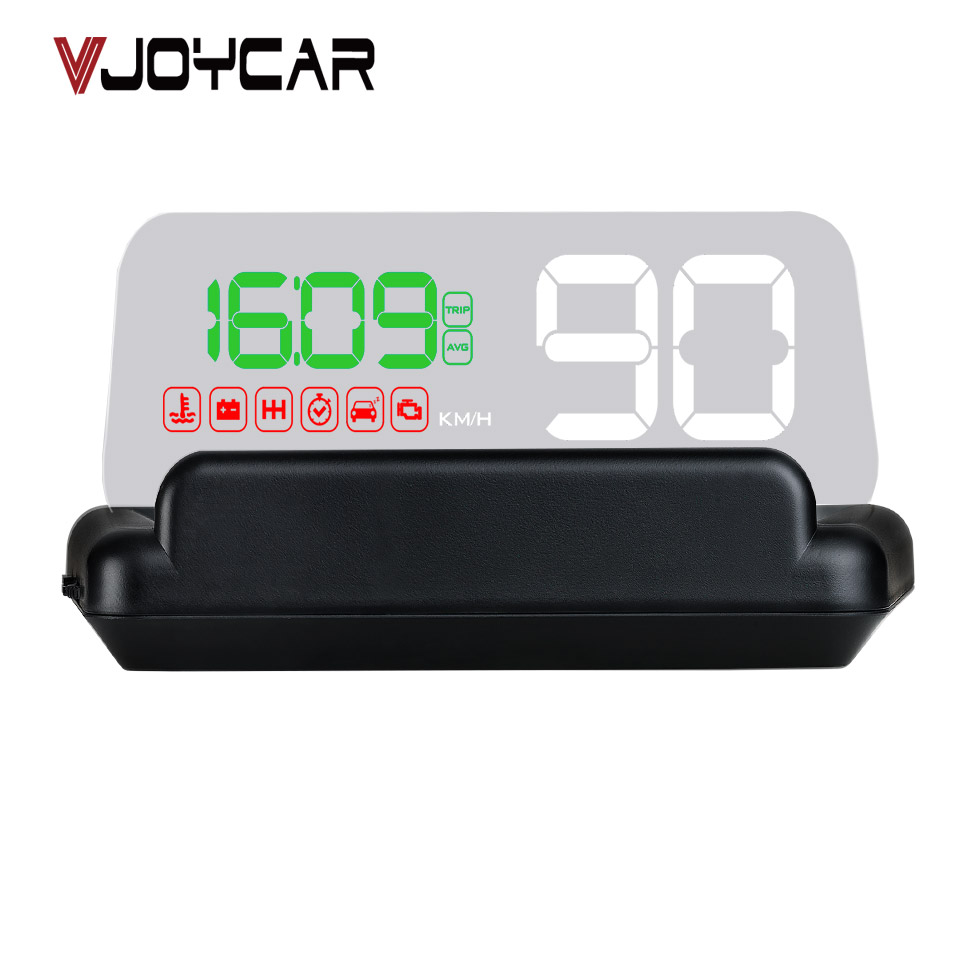 VJOYCAR C500 New Mirror Hud Head Up display Auto OBD2 ELM327 Car Speed Projector Speedometer Car Detector KMH MPH RPM Fuel 40 speed warning system c500 car hud obd2 mirror hud head up display rpm speedometer projector