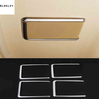 4pcs/lot Car sticker stainless steel car ceiling Sunroofs speaker decoration cover for 2015 2019 Toyota Alphard