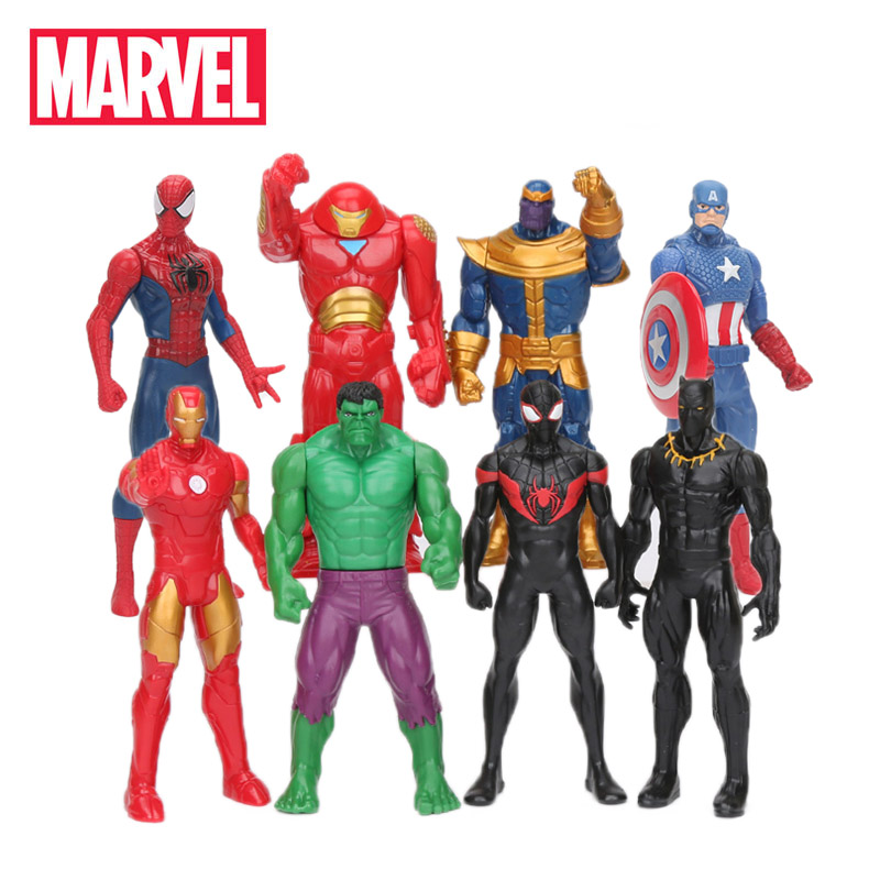 Marvel Toys 15cm Avengers Endgame Figure Spiderman Tnanos Hulk Ironman Black Panther Action Figures Collection Model(China)