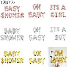 YORIWOO OH BABY Gender Reveal Letter Foil Balloons Its a Boy Girl Baby Shower Favors Birthday Party Decorations Kids Babyshower baby shower boy girl decorations set it s a boy it s a girl oh baby balloons gender reveal kids birthday party baby shower gifts