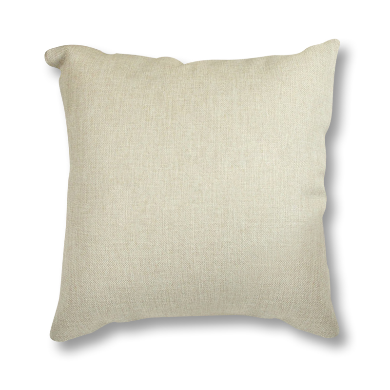 small wholesale linen blank cushion thermal hot heat transfer print throw pillows case diy solid beige cushion cover for sofa