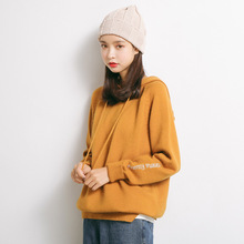 Spring and Autumn Sweater Women Hooded Ladies Loose Two-piece Top Jacket  M52