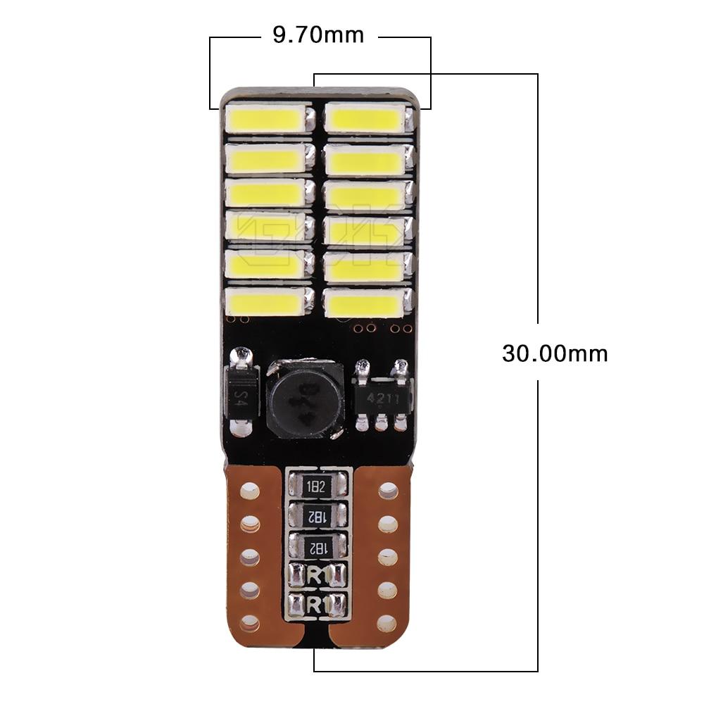 4pcs / lot Canbus Free Car Auto LED T10 24smd 4014 Lisenziya plitəsi - Avtomobil işıqları - Fotoqrafiya 2