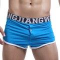 2016 Men Underwear Excellent Quality Men's Underpants Big Bulge Boxers Shorts Sexy Underwear  Wear Cotton With Button Boxer