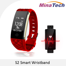 Новинка 2017 года S2 Bluetooth Smart Band Водонепроницаемый Сенсорный экран браслет Heart Rate Мониторы SmartBand браслет для Android IOS Телефон