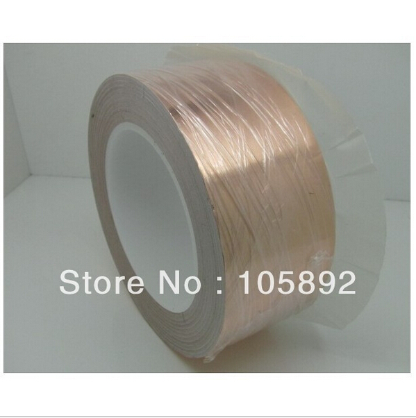 free shipping 70mm x 30M x 0.06mm Copper Foil Conductive Adhesive and Single Conductive for cooper foil tape of soldering bga