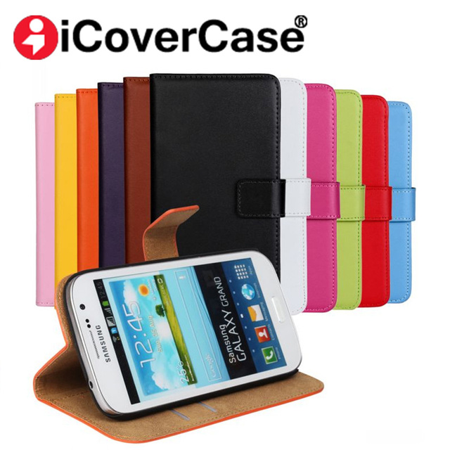 info for 8cf0d d18ed US $3.9 15% OFF|Luxury Genuine Leather Wallet Case For Samsung Galaxy S3 S4  S5 mini S6 S6edge S7 Edge S8 Grand Neo Plus Flip Cover -in Flip Cases from  ...