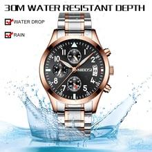 NIBOSI мужские часы Reloj Hombre 2019 мужские s часы лучший бренд класса люкс кварцевые часы с большим циферблатом спортивные водонепроницаемые Relogio Masculino Saat