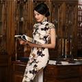 S-3XL Chinese Women's Satin Cheongsam Silk Long Qipao China Oriental Dress Traditional Chinese Cheongsams National Wind Qipao