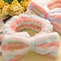 Hot Sale Cute Bowknot Hair Face Wash Headband Wrap Bath Shower Hairdo Wash Make Up Hairband 1PC Hair Headwear Accessories
