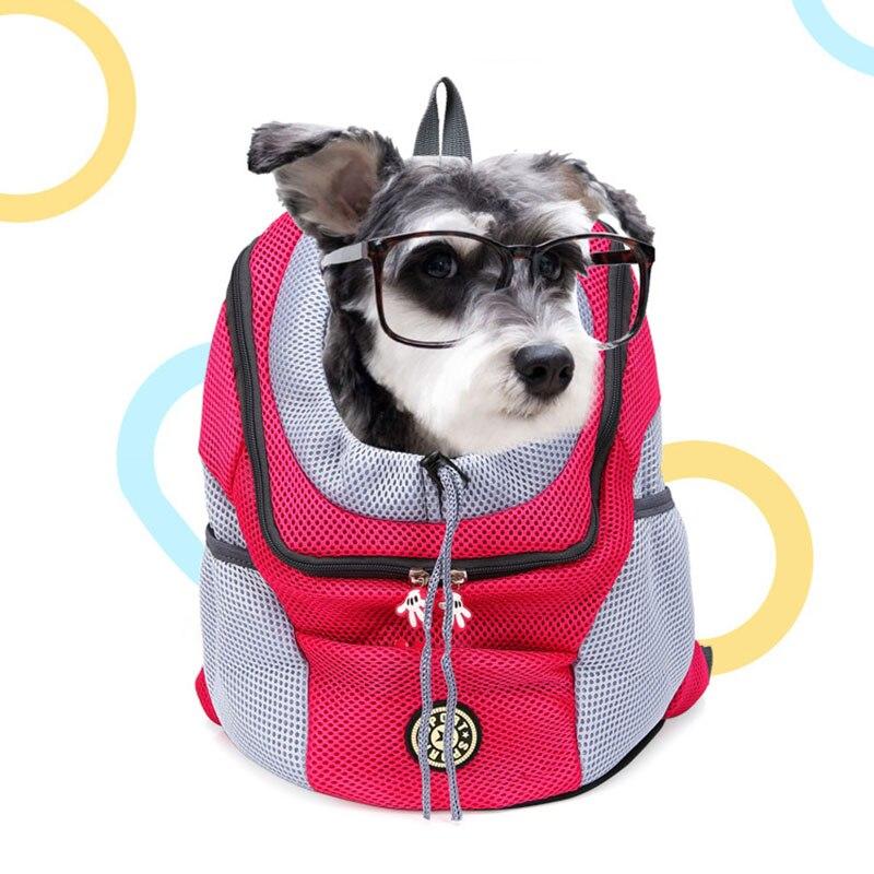 New Outdoor Pet Dog Carrier Bag Out Double Shoulder Portable Travel Backpack Pet Dog Front Bag Mesh Backpack Head New Outdoor Pet Dog Carrier Bag Out Double Shoulder Portable Travel Backpack Pet Dog Front Bag Mesh Backpack Head