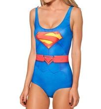 NEW Sexy Girl Summer Comic Avengers superman superwoman 3D Prints Sleeveless One-piece Swimsuit Swimwear Women Bathing Suit Plus