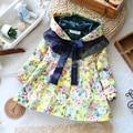 2014 outono roupas meninas outerwear crianças casaco à prova de vento princesa casaco menina de médio longo casacos