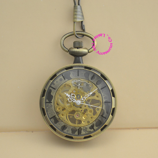 new fashion good quality vintage retro antique bronze men grandfather gift steampunk mechanical pocket watch hour