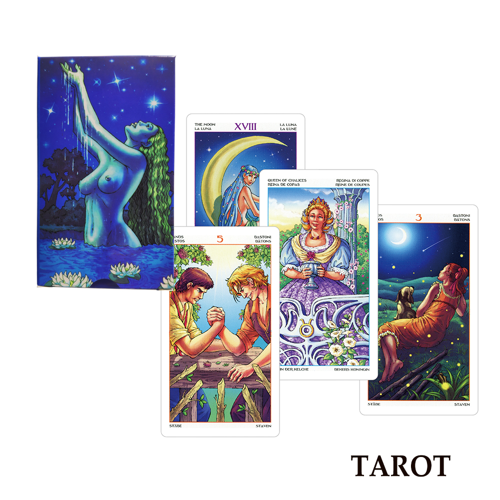 2019 Wheel Of The Year Tarot Cards Deck Mysterious Multi-language Read Fortune For Personal Use Board Game Card Game