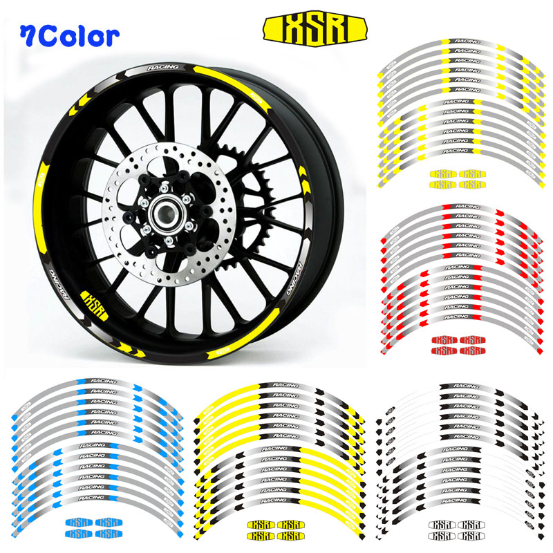 Hot sell Motorcycle 17inch Rim Wheel Decal Accessory Sticker Reflective waterproof sticker for Yamaha XSR700 XSR900 Decals & Stickers Automobiles & Motorcycles - title=