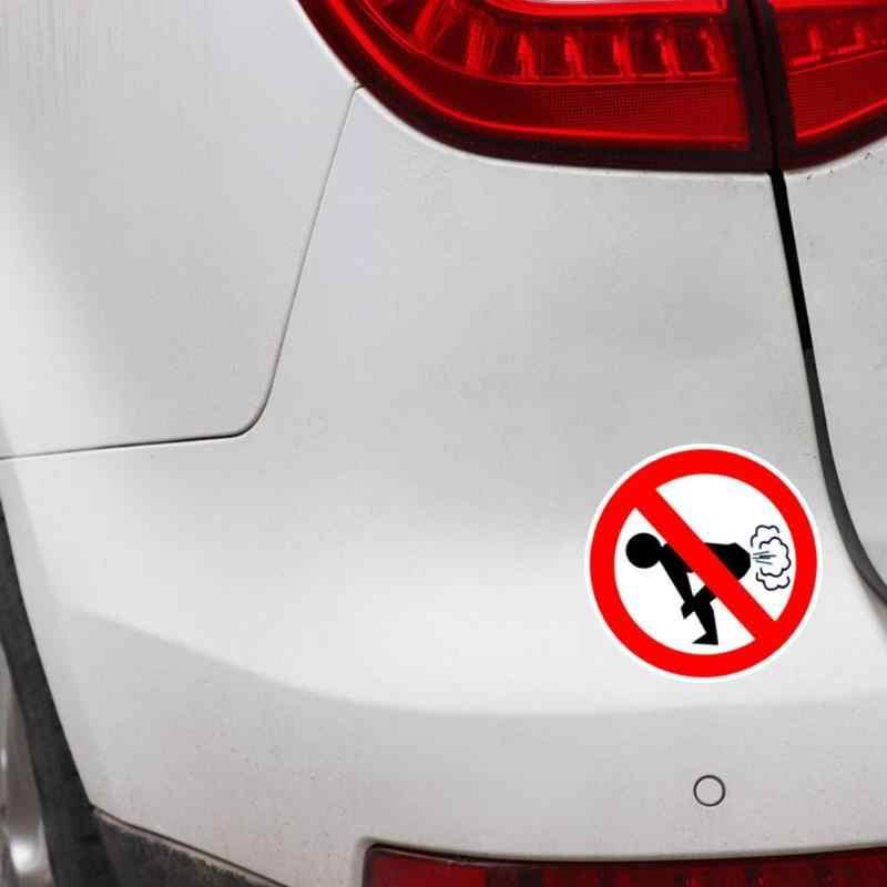 Pas de péter voiture autocollant Auto style réfléchissant drôle avertissement autocollants fenêtre corps drôle cul moto décalque drôle voiture autocollants