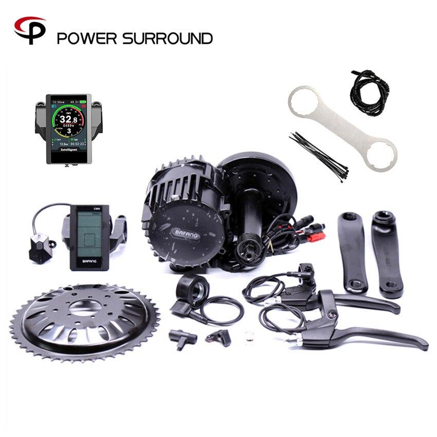 Bafang BBSHD 48 V/52 V 1000W Ebike moteur de vélo électrique 8fun kit de conversion de vélo électrique à entraînement moyen avec capteur de frein