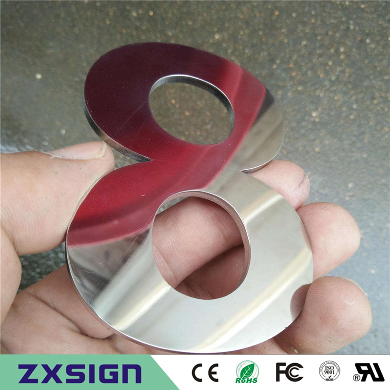Factory Outlet 3mm Thick Solid Stainless Steel Sign, Laser Cut Metal Store Name Letterings