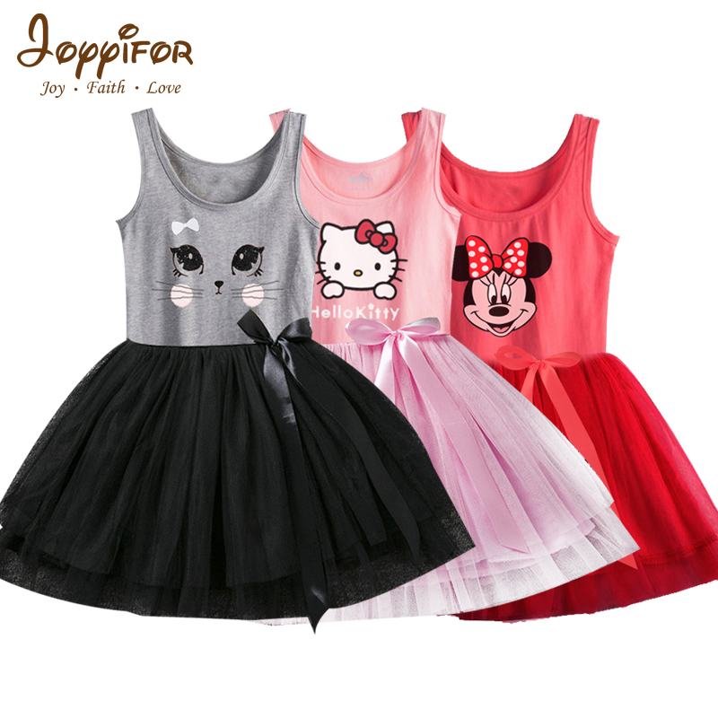 Girls Dresses Fashion Casual Summer Lace Character Tutu Dress Kids Girl Party Clothes for 2-6Y Children Vetement Fille retail fashion summer girl dress sleeveless kids dresses for girl tutu party dress lace polka dot novatx brand girls clothes