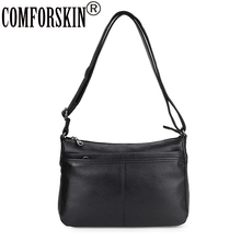 COMFORSKIN New Arrivals Multi-layer Cross-body Bags Guaranteed Cowhide Leather Women Messenger Bag Soft Style Ladies Should Bag цена