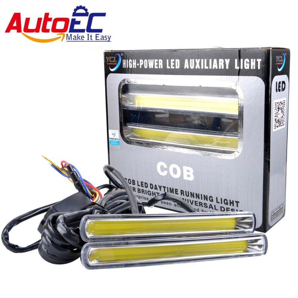 AutoEC 10 пара стайлинг украшение автомобиля дневного света DC12V, 24В, белый 6000K для 4 x 4 аксессуары внедорожные оптом #LM134